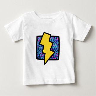 Blue Bricks Lightning Bolt Baby T-Shirt
