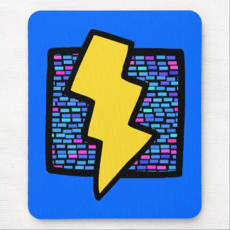 Blue Bricks Lightning Bolt Mouse Pad