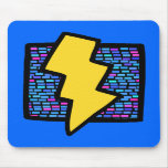 Blue Bricks Lightning Bolt Mousepad