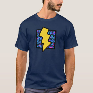 Blue Bricks Lightning Bolt T-Shirt