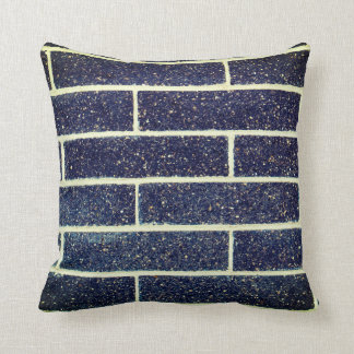 Blue Bricks Throw Pillow