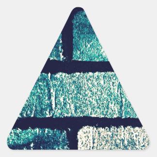 Blue Bricks Triangle Sticker