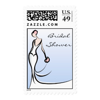 Blue Bridal Shower Stamps