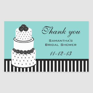 Blue Bridal Shower Thank You Stickers