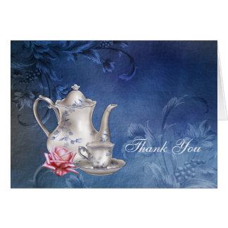 Blue Bridal Tea Thank You Cards