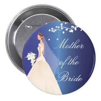 Blue Bride MOB Bridal Party  Button