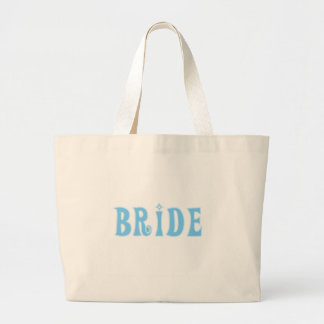 Blue Bride T-shirts and Gifts Large Tote Bag