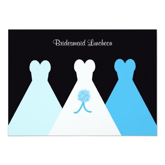 Blue Bridesmaid Luncheon or Brunch Invitation