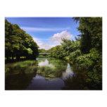 Blue Bridge at Blandford Scenic River Landscape Photo Print