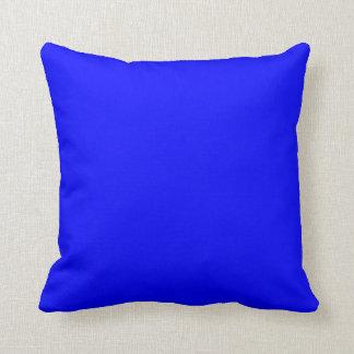 Blue Bright Electric Blue Neon Blue Color Bleu Sky Pillow
