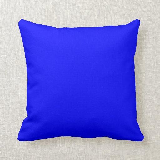 Blue Bright Electric Blue Neon Blue Color Bleu Sky Throw Pillows