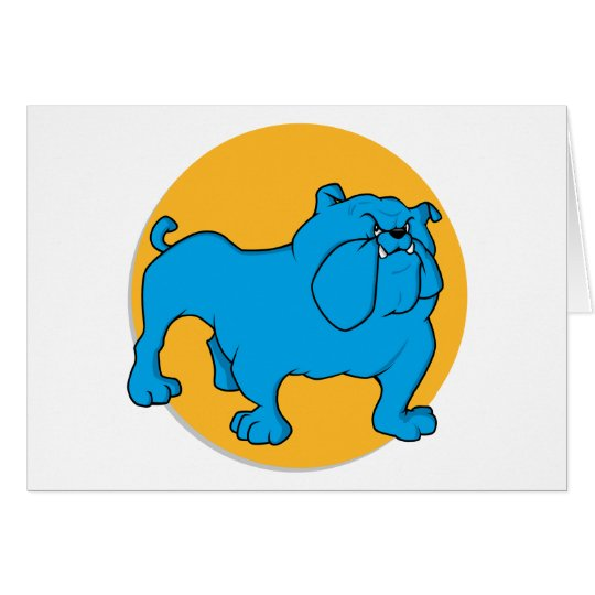Blue British Bulldog Card