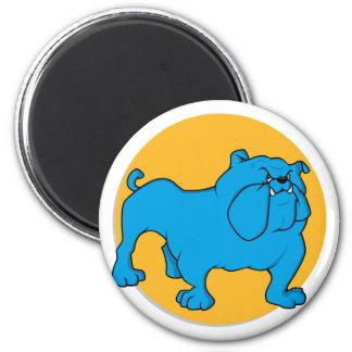Blue British Bulldog Refrigerator Magnets