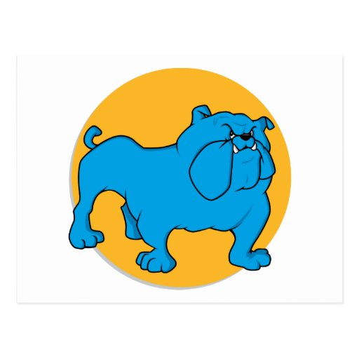 Blue British Bulldog Postcard