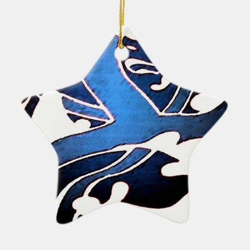 Blue British Lion Ornament