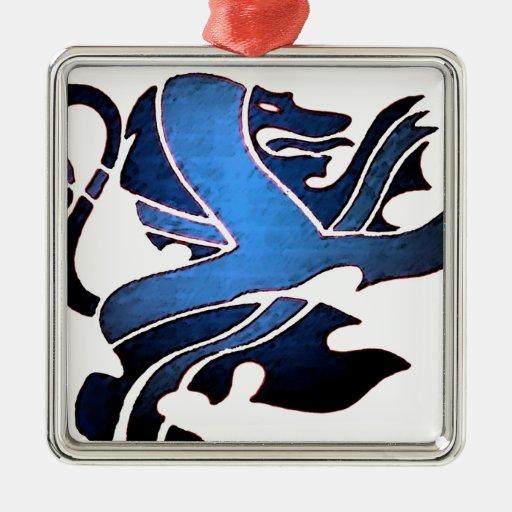 Blue British Lion Ornaments