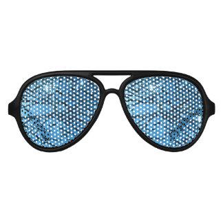 Blue Broken Glass Aviator Sunglasses