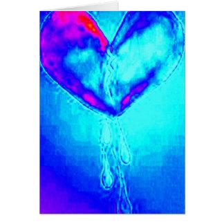 Blue Broken Heart Survivor Card