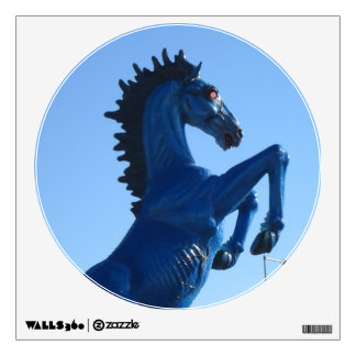 Blue Bronco Wall Decal