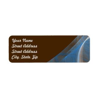 Blue & Brow Frac Background Return Address Sticker Return Address Label