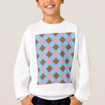 Blue, brown and pink plaid pattern sweatshirt