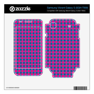Blue Brown and Pink Plaid Samsung Vibrant Decal