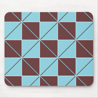 Blue & Brown Checkerboard Argyle Mousepads