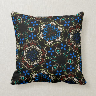 blue brown dress pillow