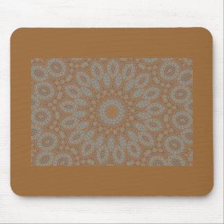 Blue & brown floral fractal pattern design mousepad