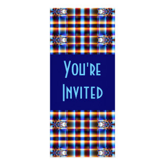 blue brown fractal personalized announcements