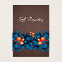 blue brown Gift registry  Cards
