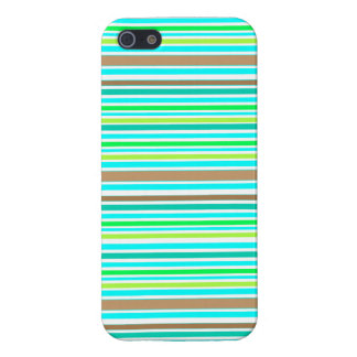 Blue Brown & Green Spring Striped Modern Pattern Case For iPhone SE/5/5s