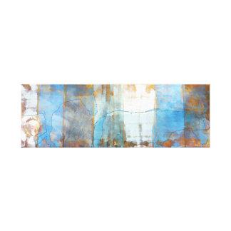Blue Brown Horse Silhouette Canvas Print