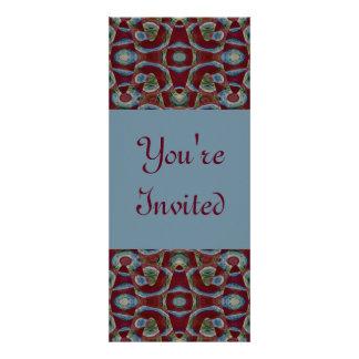 blue brown personalized invite