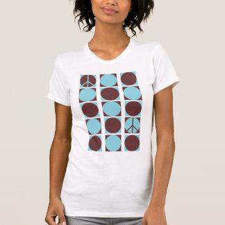 Blue & Brown Peace Dots T-Shirt