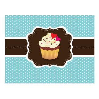 Blue//Brown Plaid cupcake Postcard