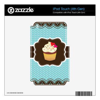 Blue//Brown Plaid cupcake iPod Touch 4G Skin