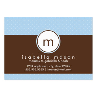Blue & Brown Polkadot Mommy Card Business Card Templates