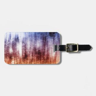 Blue, Brown & Purple Abstract Wash Bag Tag