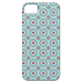 Blue Brown & Red Circle Design, iPhone 5 case