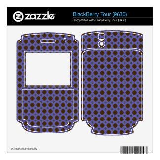 blue brown retro pattern BlackBerry skins