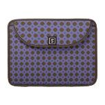 blue brown retro pattern MacBook pro sleeve