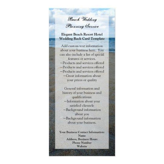 Blue/Brown Sands ~ Beach Wedding Program or