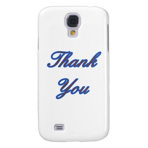 Blue Brown Thank You Design The MUSEUM Zazzle Gift Samsung Galaxy S4 Cases
