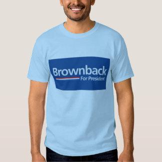 Blue Brownback for President Shirt