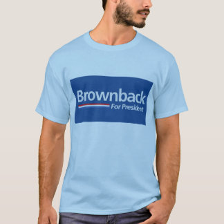 Blue Brownback for President Shirt
