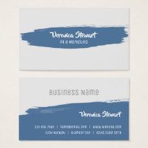 Blue Brush Stroke Business Business Card