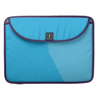 Blue Brushed Metal - Macbook Pro Sleeve
