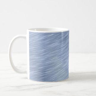 Blue Brushed Metal Textured Coffee Mug