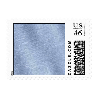 Blue Brushed Metal Textured Postage Stamps